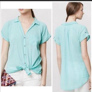 {Anthropologie} Marcelina top size XS